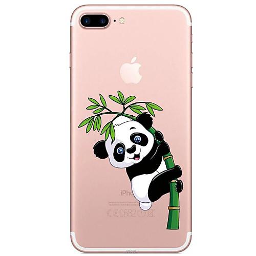 Кейс для Назначение Apple iPhone 7 Plus iPhone 7 Прозрачный С узором Кейс на заднюю панель Панда Мультипликация Мягкий ТПУ для iPhone 7 детская футболка классическая унисекс printio король панда