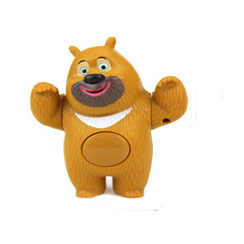 Ролевые игры Куклы Наборы для моделирования Игрушки Медведи Животный принт Милый стиль Музыка и свет Детские Куски
