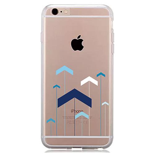 Кейс для Назначение Apple iPhone 7 Plus iPhone 7 Прозрачный С узором Кейс на заднюю панель Геометрический рисунок Мягкий ТПУ для iPhone 7
