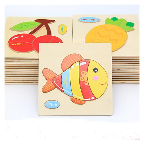 Образовательные игры с карточками Пазлы Деревянные пазлы Игры с последовательностью Обучающая игрушка Рыбки Животные Своими руками развивающие деревянные игрушки кубики животные