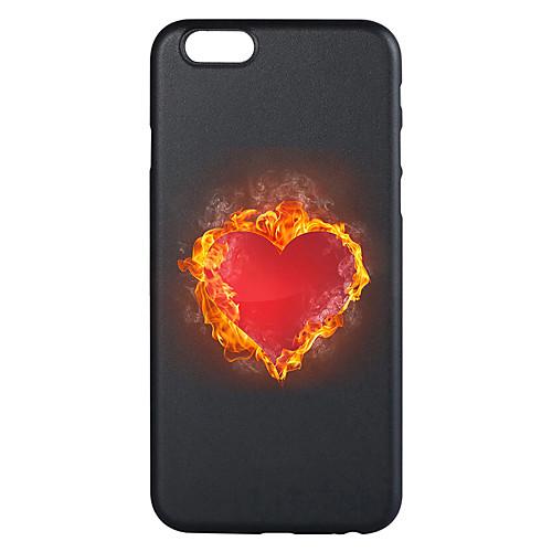 Кейс для Назначение Apple iPhone 7 Plus iPhone 7 С узором Кейс на заднюю панель С сердцем Мягкий ТПУ для iPhone 7 Plus iPhone 7 iPhone 6s