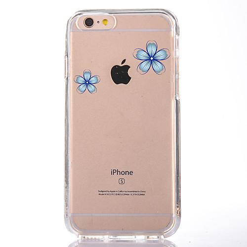 Кейс для Назначение Apple iPhone 7 Plus iPhone 7 Прозрачный С узором Кейс на заднюю панель Цветы Мягкий ТПУ для iPhone 7 Plus iPhone 7