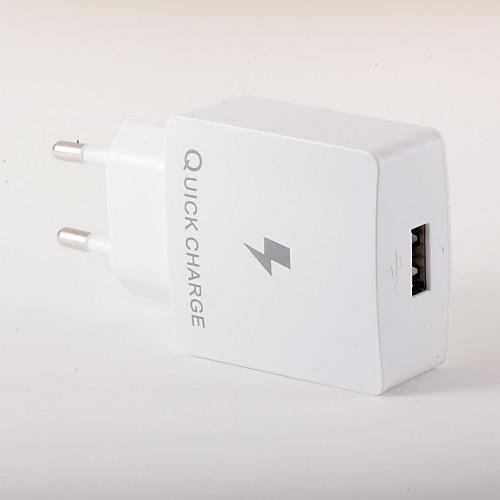 Фото Портативное зарядное устройство Зарядное устройство USB Евро стандарт Быстрая зарядка 1 USB порт 3 A зарядное устройство для дома портативное зарядное телефон usb зарядное евро стандарт 1 usb порт 1a ac 100v 240v для