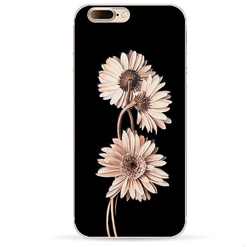 Кейс для Назначение Apple iPhone X iPhone 8 iPhone 8 Plus С узором Кейс на заднюю панель Цветы Мягкий ТПУ для iPhone X iPhone 8 Pluss