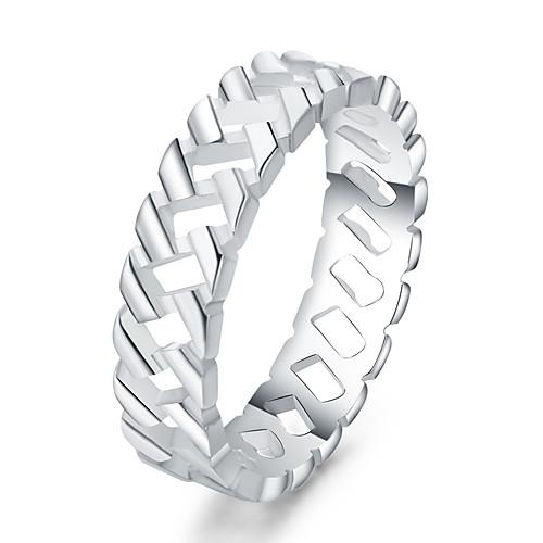 Жен. Серебрянное покрытие Кольцо - Euramerican Серебряный Кольцо Назначение Повседневные