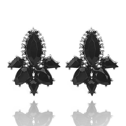 Жен. Кристалл Хрусталь Серьги-гвоздики - Геометрия / Уникальный дизайн Белый / Черный / Серый Геометрической формы Серьги Назначение Для жен мотаться уникальный дизайн в виде подвески кулон серебряный одинарная цепочка перо серьги назначение повседневные