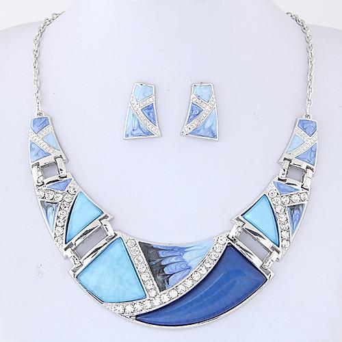 Жен. Комплект ювелирных изделий 1 ожерелье / 1 пара сережек - Euramerican / Мода Геометрической формы Цвет радуги / Зеленый / Синий Набор