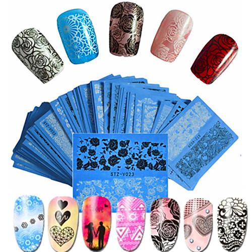 48pcs/set Наклейки для ногтей / Аксессуары для инструментов Nail Art DIY Наклейка для переноса воды / Наклейка для ногтей Дизайн ногтей