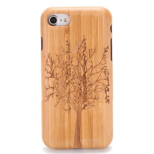 Case For Apple iPhone 7 / iPhone 7 Plus Embossed / Pattern Back Cover Wood Grain / Tree Hard Wooden for iPhone 7 Plus / iPhone 7 / iPhone 6s Plus