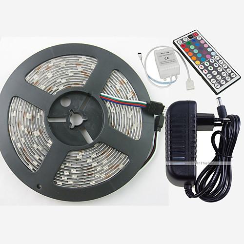 ZDM 5 метров RGB ленты 150 светодиоды 1 пульт дистанционного управления 44Keys 1 адаптер x 12V 3A 1 кабель переменного тока RGB Можно