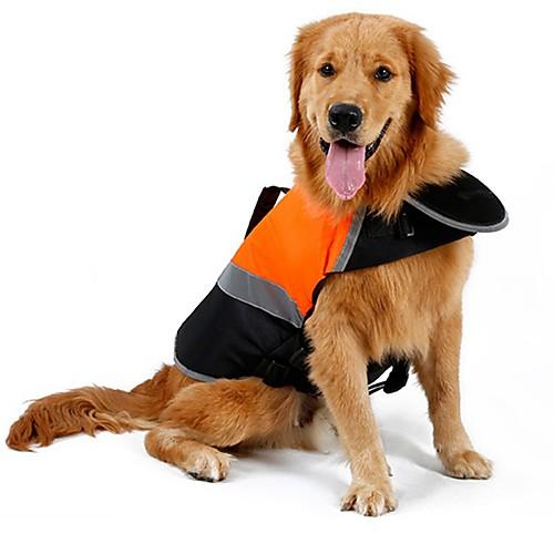 Кошка Собака Дождевик Жилет Спасательные жилеты Одежда для собак Однотонный Оранжевый Зеленый Хлопок Терилен Костюм Для домашних животных petmax жилет коричневый с орнаментом s