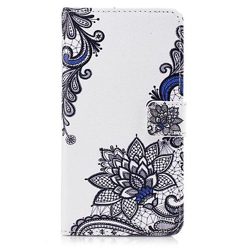 Кейс для Назначение Huawei Honor 5C Huawei Бумажник для карт Кошелек со стендом Флип С узором Рельефный Чехол Цветы Твердый Кожа PU для