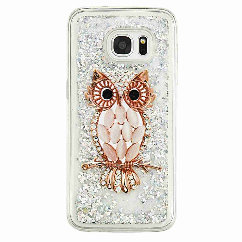 Case For Samsung Galaxy S7 edge / S7 / S6 edge Flowing Liquid / Pattern Back Cover Owl Soft TPU