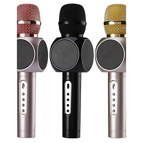no Беспроводной Микрофон для караоке USB Черный Розовый Золотистый