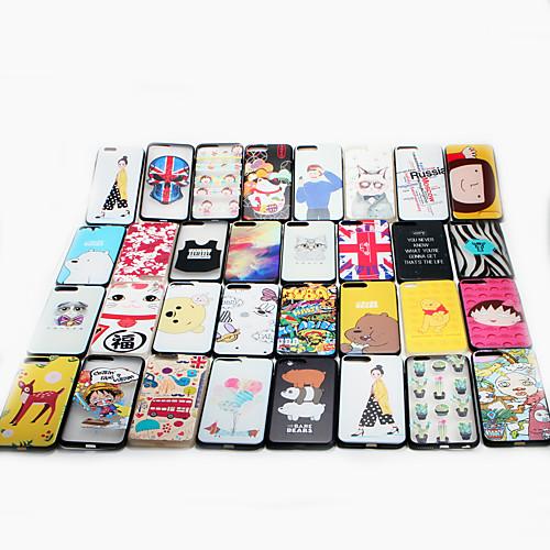 Кейс для Назначение iPhone 7 Plus Apple С узором Кейс на заднюю панель Мультипликация Твердый ПК для iPhone 7 Plus