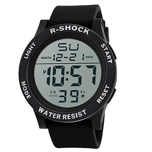 Муж. Цифровой электронные часы Спортивные часы Китайский Горячая распродажа силиконовый Группа Кулоны Черный
