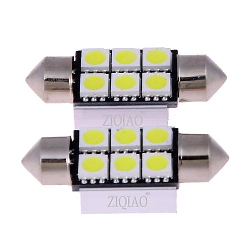 ZIQIAO 2pcs Автомобиль Лампы SMD 5050 Внутреннее освещение лампы освещение