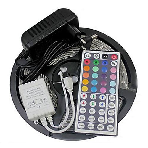 ZDM 5 метров RGB ленты Наборы ламп Гибкие светодиодные ленты 300 светодиоды 1 адаптер питания x 2A RGB Можно резать Водонепроницаемый