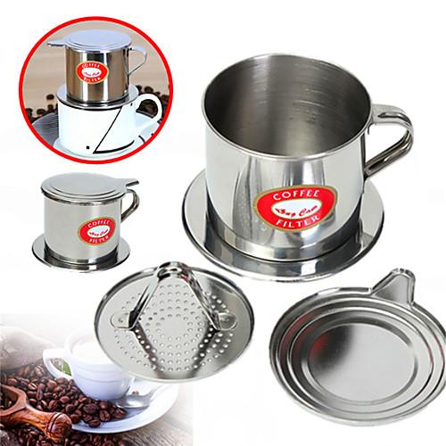 Вьетнамский набор капельного кофейного фильтра Вьетнамский традиционный кофейный фильтр phin для заварки кофе 5.5 x 6.5cm