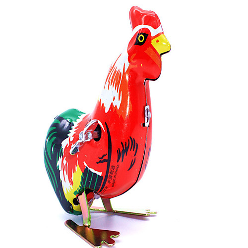 Wind-up Toy Chicken Metalic Iron 1 pcs Pieces Kid's Boys' Girls' Toy Gift