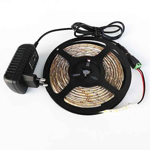 ZDM 5 метров Наборы ламп 300 светодиоды 1 адаптер питания x 2A 1 Кабели постоянного тока Тёплый белый Белый Зеленый Желтый Синий Красный