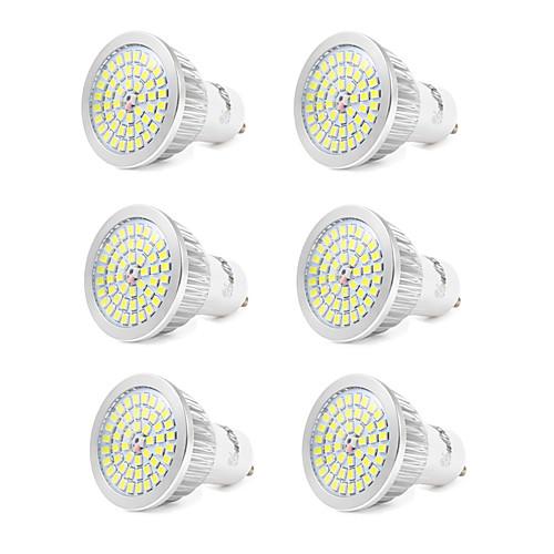6шт 7W 550-600lm GU10 Точечное LED освещение 48 Светодиодные бусины SMD 2835 Холодный белый 110-240V