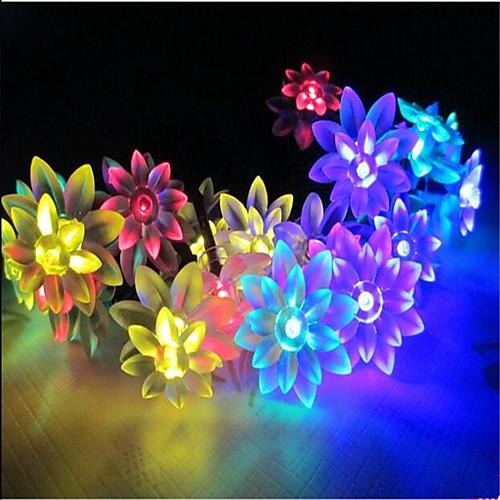 Гирлянды 100 светодиоды Тёплый белый RGB Белый Розовый Фиолетовый Желтый Синий Водонепроницаемый 220.0 цена