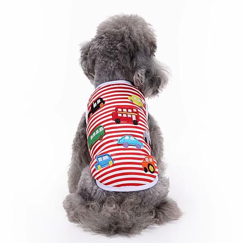 Кошка Собака Футболка Жилет Одежда для собак Вышивка Красный Хлопок Костюм Для домашних животных Муж. Жен. Очаровательный На каждый день кошка собака футболка жилет одежда для собак в полоску радужный хлопок костюм для домашних животных муж жен очаровательный на каждый