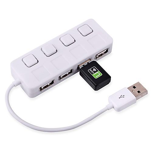 сверхтонкий 2.0 хаб адаптер 480Mbps USB 4 порта концентратора разветвитель для портативных ПК сетевые фильтры belsis сетевой удлинитель 4 розетки 4 usb порта длина 1 500