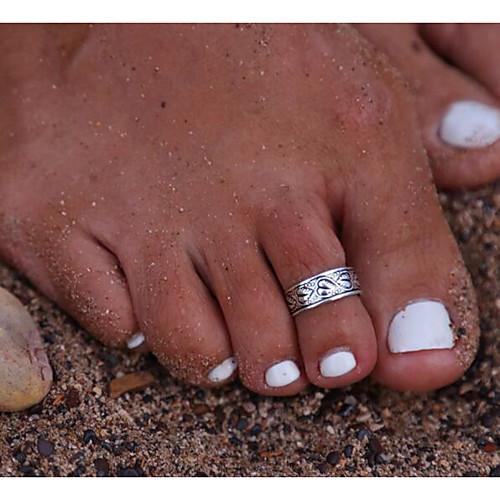 Кольцо для ног Винтаж Жен. Украшения для тела Назначение Повседневные цветы манжета кольцо кольцо для ног жен 10 11 12 уникальный дизайн винтаж мода бижутерия украшения для тела назначение для