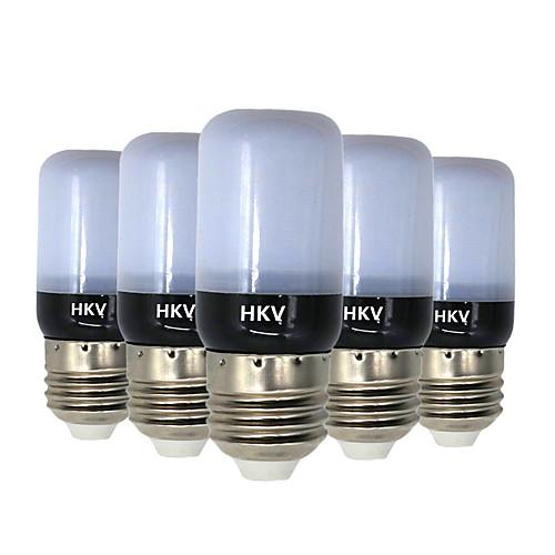 HKV 5 шт. 3W 200-300lm E14 E26 / E27 LED лампы типа Корн 20 Светодиодные бусины SMD 5736 Тёплый белый Холодный белый 220-240V