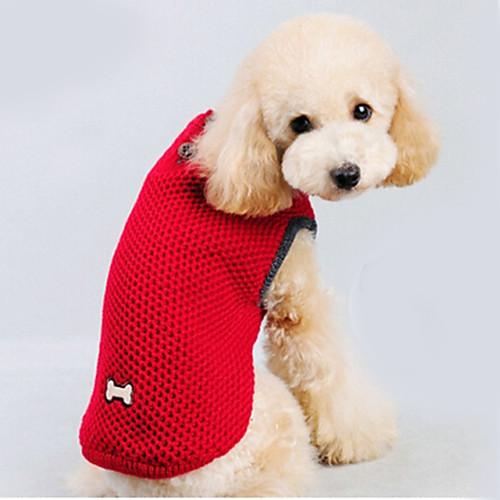Кошка Собака Свитера Одежда для собак Однотонный Красный Синий Хлопок Костюм Для домашних животных Муж. Жен. Сохраняет тепло кошка собака свитера одежда для собак однотонный коричневый сукно костюм для домашних животных муж жен