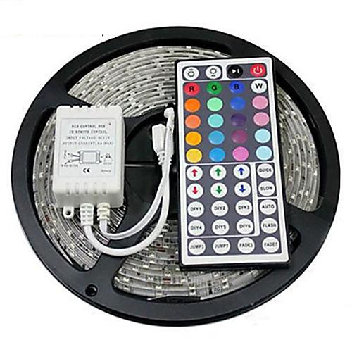 Купить со скидкой Zzdm водонепроницаемый 5 м 24w 300x2835rgb smd свет водить полоса света 44key ir пульт дистанционног