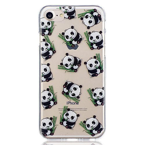 Кейс для Назначение Apple iPhone 8 iPhone 8 Plus С узором Кейс на заднюю панель Панда Мягкий ТПУ для iPhone 8 Pluss iPhone 8 iPhone 7 детская футболка классическая унисекс printio король панда