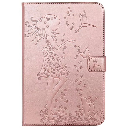 Case For Samsung Galaxy / Tab A 8.0 / Tab A 9.7 Wallet / Card Holder / with Stand Full Body Cases Cat / Butterfly / Sexy Lady Hard PU Leather for Tab E 9.6 / Tab A 7.0 / Tab A 10.1 (2016)