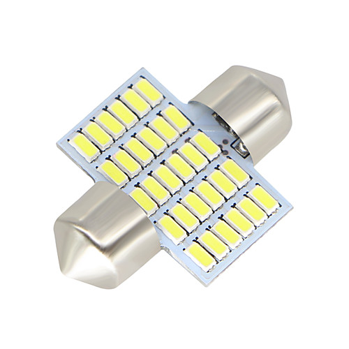 SO.K 2pcs 31mm Автомобиль Лампы 3W SMD 3014 300lm Светодиодная лампа Внутреннее освещение цена