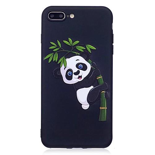 Кейс для Назначение Apple iPhone 7 Plus iPhone 7 С узором Рельефный Кейс на заднюю панель Панда Животное Мягкий ТПУ для iPhone 7 Plus детская футболка классическая унисекс printio король панда