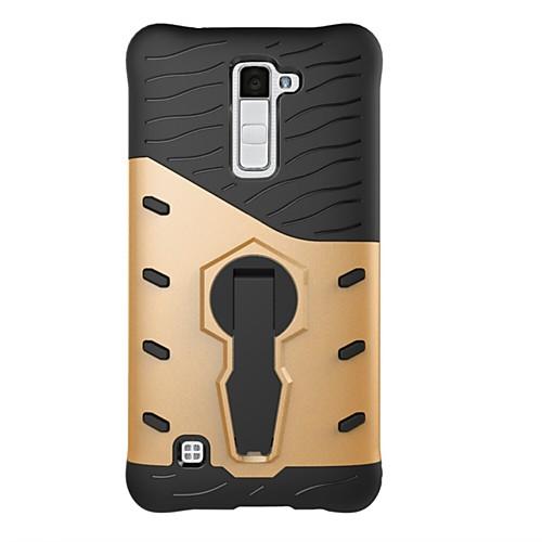 Кейс для Назначение LG K8 LG LG K10 LG K7 Защита от удара со стендом Кейс на заднюю панель броня Твердый ПК для LG X Style LG X Power LG кейс для назначение lg k8 lg lg k5 lg k4 lg k10 lg k7 lg g5 lg g4 бумажник для карт кошелек со стендом флип чехол сплошной цвет твердый