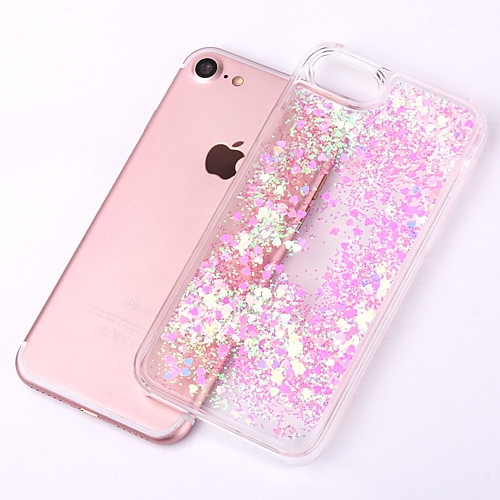 Case For Apple iPhone XR XS XS Max Flowing Liquid / Transparent Back Cover Glitter Shine Hard PC for iPhone X 8 8 Plus 7 7plus 6s 6s Plus SE 5 5S