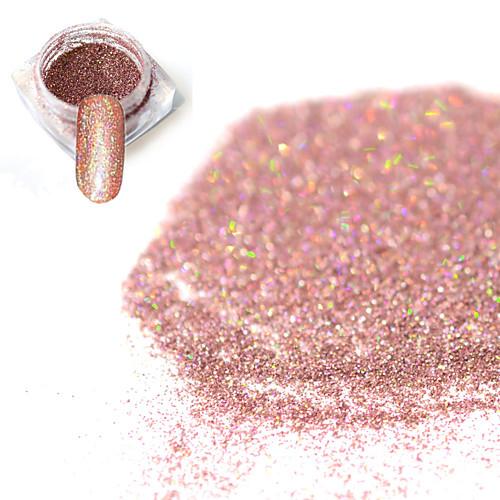 1 pcs порошок / Порошок блеска Элегантный и роскошный / Блеск и сияние / Гель для ногтей Дизайн ногтей