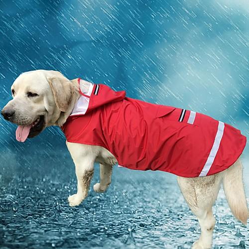 Кошка Собака Толстовки Дождевик Одежда для собак Однотонный Красный Синий Ткань Оксфорд Терилен Костюм Для домашних животных Муж. Жен. комбинезон дождевик для собак dezzie такса большая
