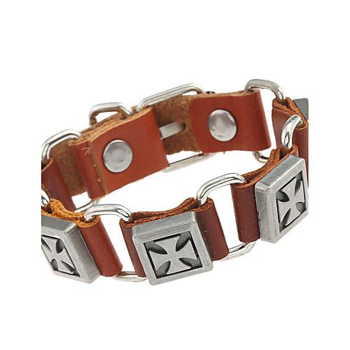 Кожаные браслеты - Кожа Природа, Мода Браслеты Черный / Коричневый Назначение Особые случаи / Подарок hdd диск