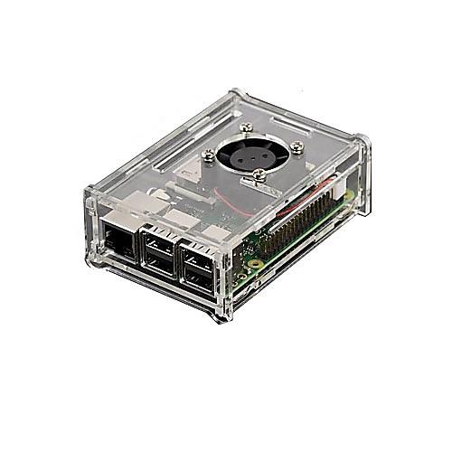 прозрачный акриловый оболочка может быть установлен вентилятором и три плавники Raspberry Pi Raspberry Pi 2b / 1b корпус raspberry pi 3 pi 2 black овальный
