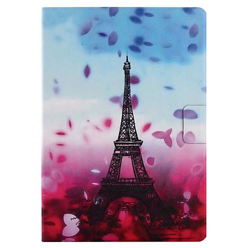 Кейс для Назначение Apple iPad 4/3/2 iPad Air 2 iPad Air Бумажник для карт со стендом Флип С узором С поддержкой Smart Touch Чехол Цветы