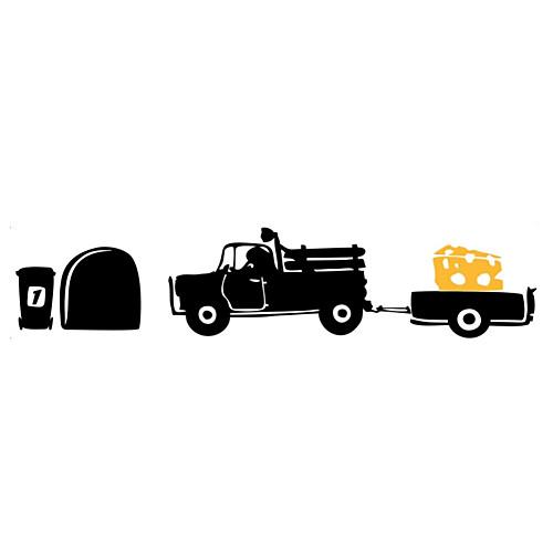 Животные Мультипликация Транспорт Наклейки Простые наклейки Декоративные наклейки на стены,Винил материал Украшение дома Наклейка на стену