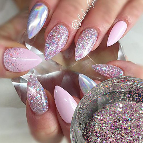 1шт Пайетки / Порошок блеска / Гель для ногтей Элегантный и роскошный / Блеск и сияние Дизайн ногтей