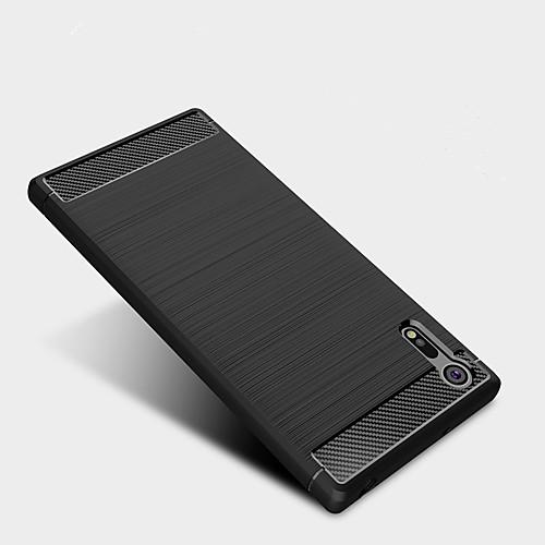 Кейс для Назначение Sony Защита от удара Кейс на заднюю панель Сплошной цвет Мягкий ТПУ для Sony Xperia XZ Premium Sony Xperia XZ Sony