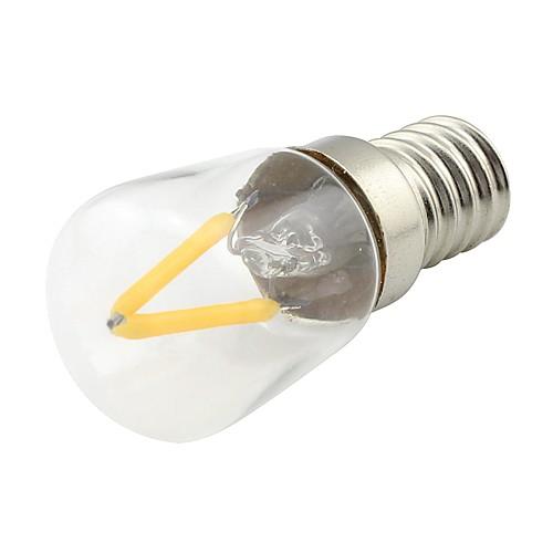 1шт 2 W LED лампы накаливания 170 lm E14 2 Светодиодные бусины COB Тёплый белый 220 V / 1 шт. фото