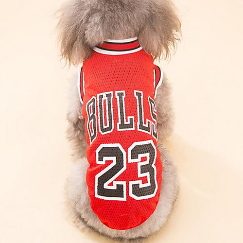 Собака Футболка Одежда для собак Английский Красный Черный Полиэстер Костюм Для домашних животных Муж. Жен. На каждый день Праздник День пальто милена одежда повседневная на каждый день