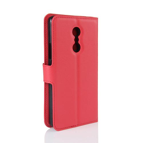 Кейс для Назначение Lenovo Бумажник для карт Кошелек со стендом Флип Чехол Сплошной цвет Твердый Кожа PU для Lenovo Zuk Z2 Lenovo Vibe чехол защитный skinbox lenovo vibe c a2020